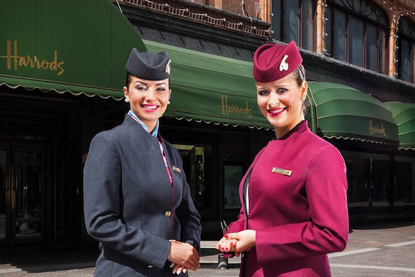QATAR AIRWAYS + HARRODS = SANT