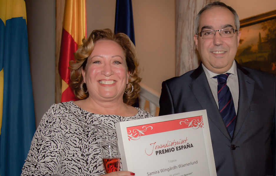 FIRST CLASS MAGAZINES REDAKTÖR VANN JOURNALISTPRISET PREMIO ESPAÑA 2015